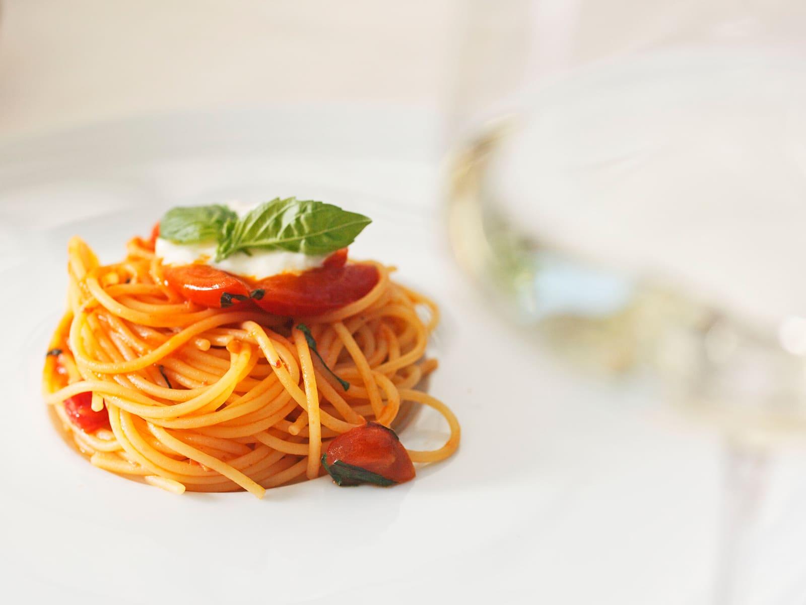 Spaghetti im Restaurant